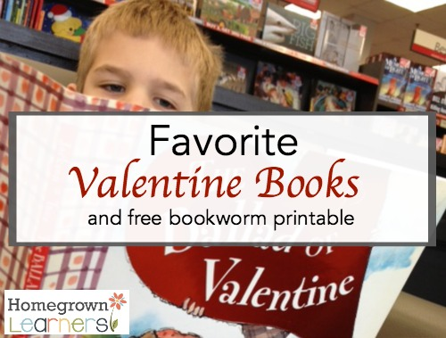 Favorite Valentine Books and Free Bookworm Printable