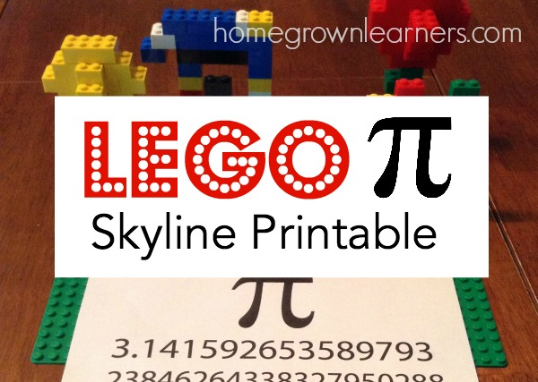 Free LEGO Pi Skyline Printable from Homegrown Learners
