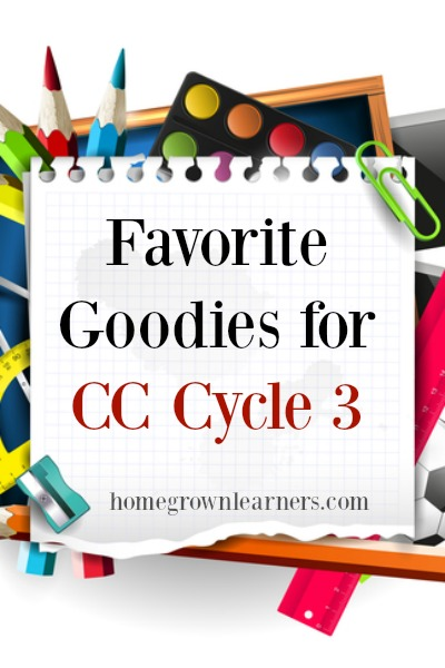 Favorite Goodies for CC Cycle 3