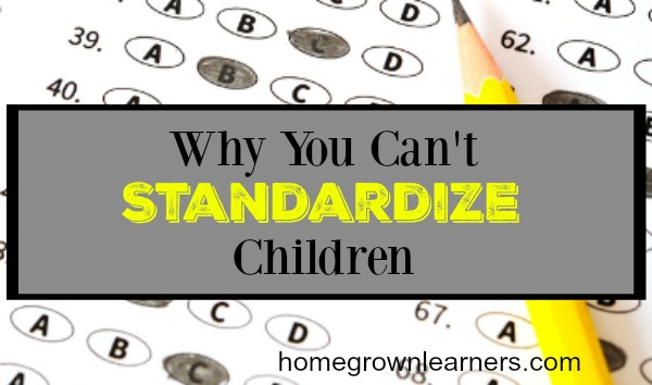 Why You Can't Standardize Children