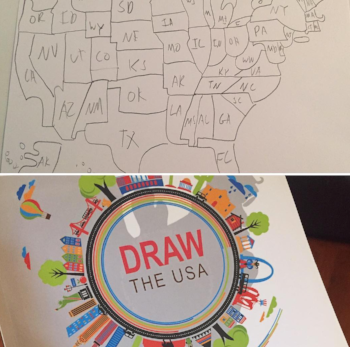 Draw the USA -- perfect for CC Cycle 3 Geography