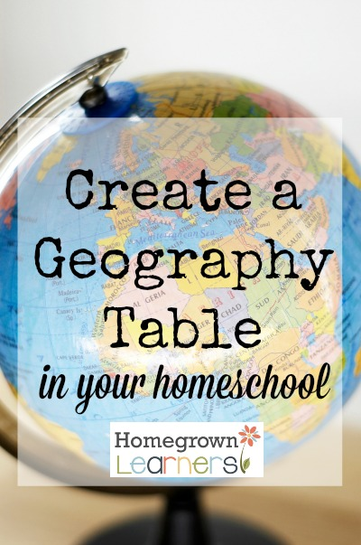 Create a Geography Table in your Homeschool