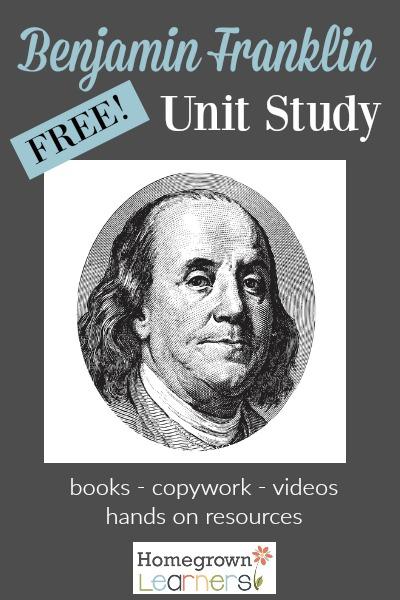 Free Benjamin Franklin Unit Studay