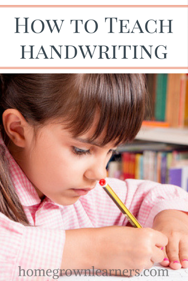 How to Teach Handwriting to Children