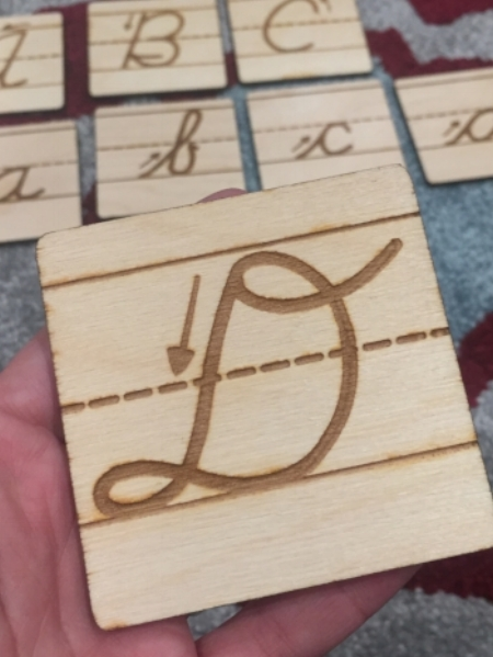Wood handwriting cards for Script-n-Scribe Handwriting