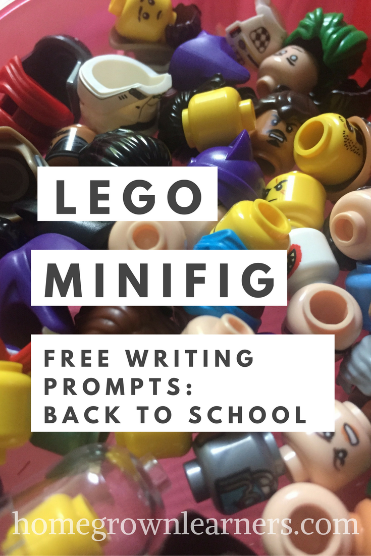 LEGO Minifigure Back to School Free Writing Prompts