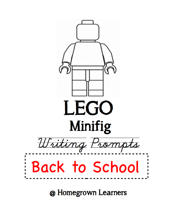 LEGO MInifig Free Back to School Writing Prompts