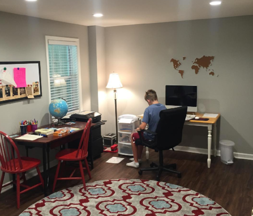 Three Ways to Foster Independence in Your Homeschool -- a Dedicated Work Space