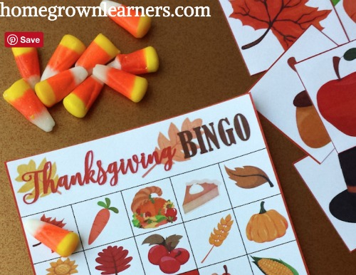 Thanksgiving BINGO For Kids
