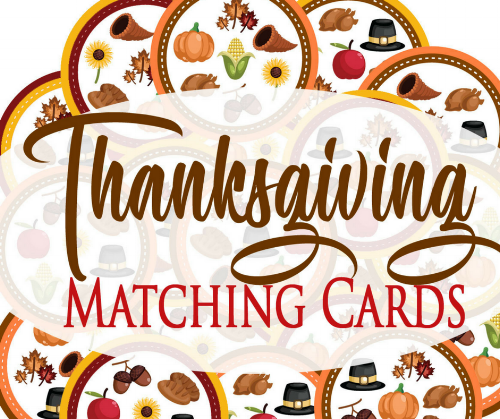 Thanksgiving Matching Cards for Kids