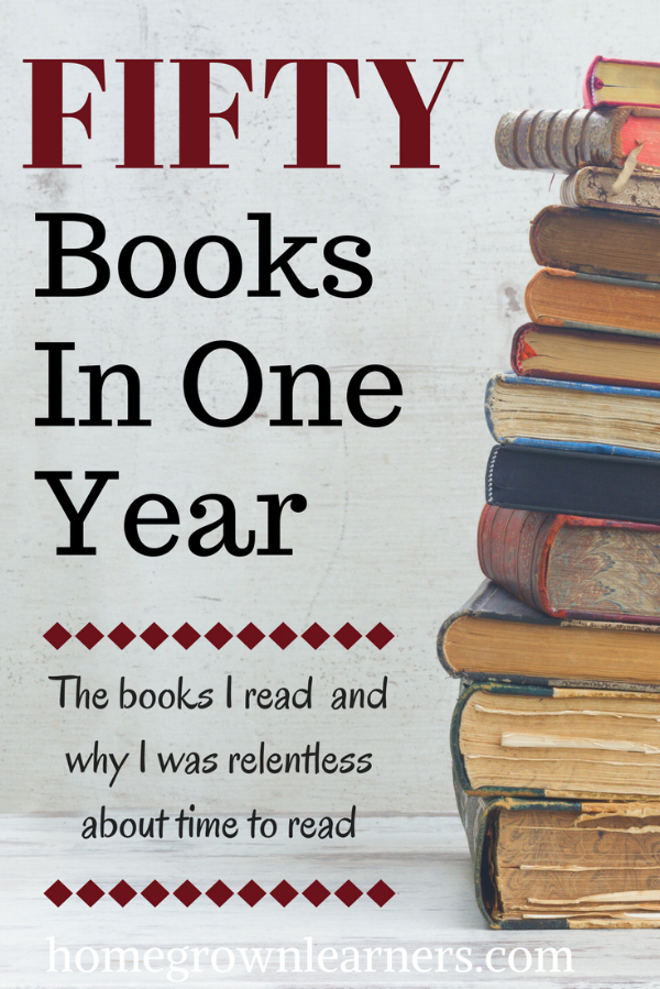 Why This Homeschool Mom Read 50 Books in One Year - and the books she read