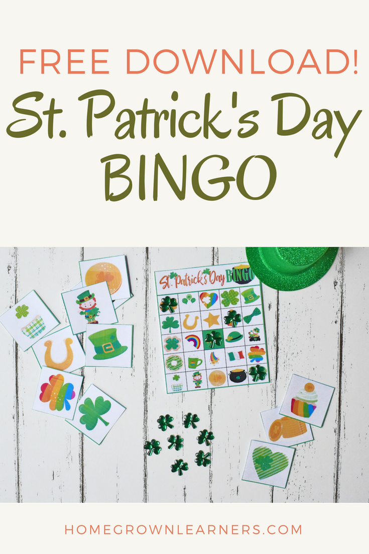 St. Patrick's Day BINGO - free download