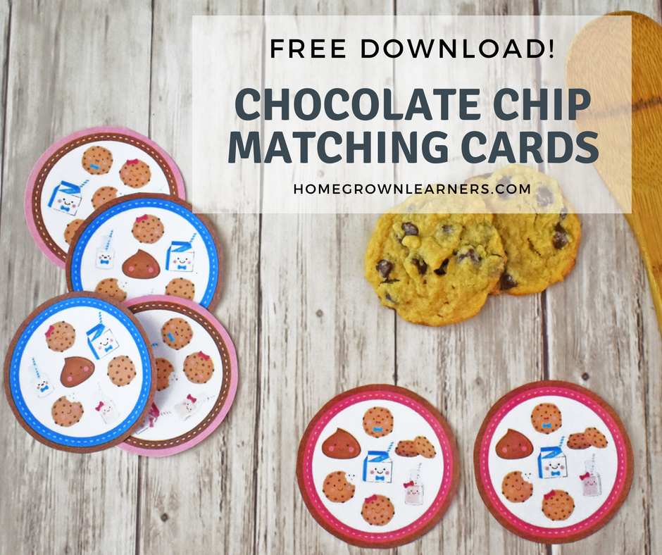 Chocolate Chip Matching Cards