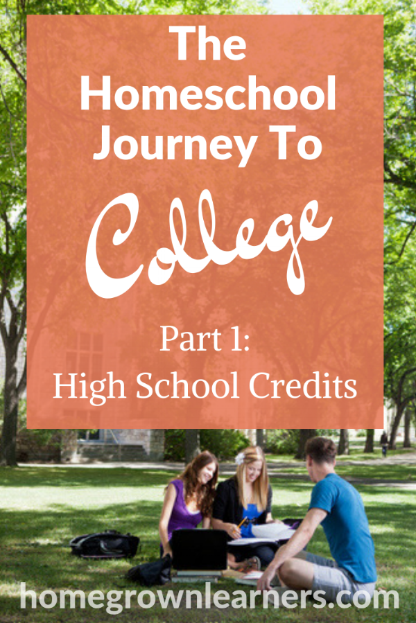 Homeschool to College: Part One in this series - dealing with how to determine and assign high school credits