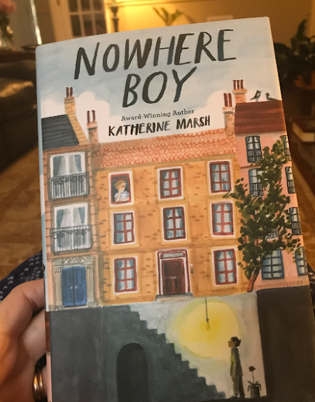 Our latest read aloud: Nowhere Boy #homeschool
