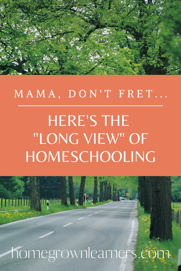 "Mama, Don't Fret… Here's the ""Long View"" of #Homeschooling"
