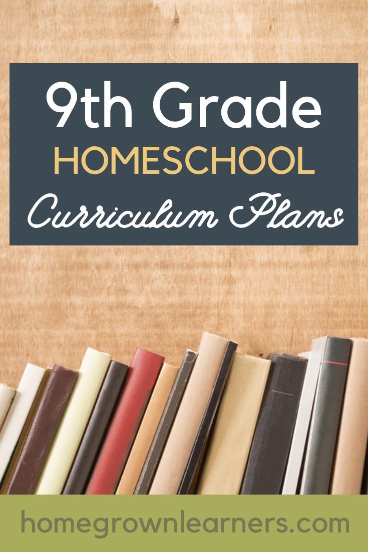 Ninth Grade #Homeschool Curriculum Plans