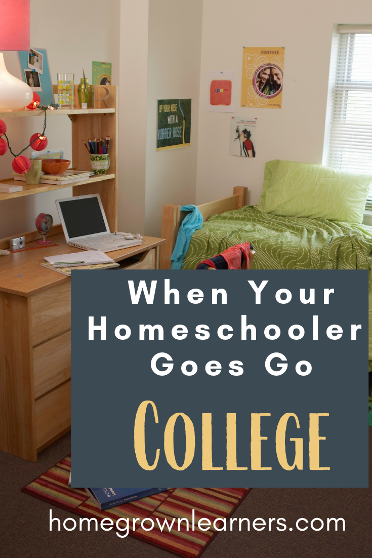 When Your #Homeschooler Goes to College