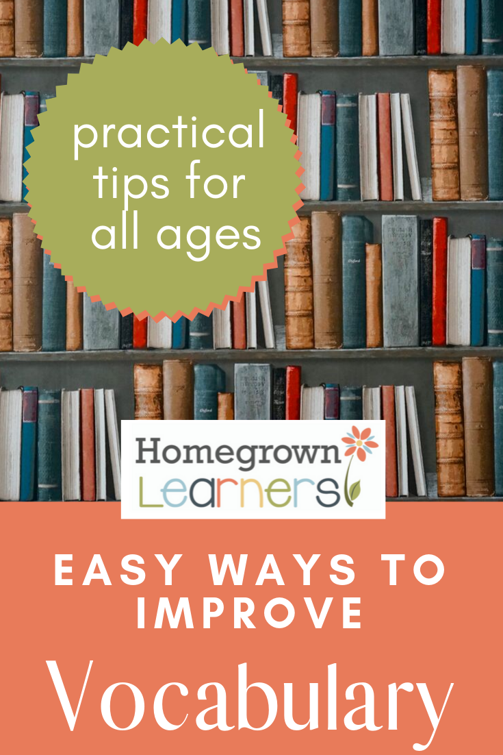 Easy Ways to Improve Vocabulary #homeschool #education