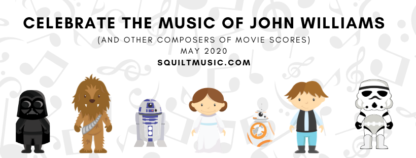 Celebrate music from the movies in #squiltlive !