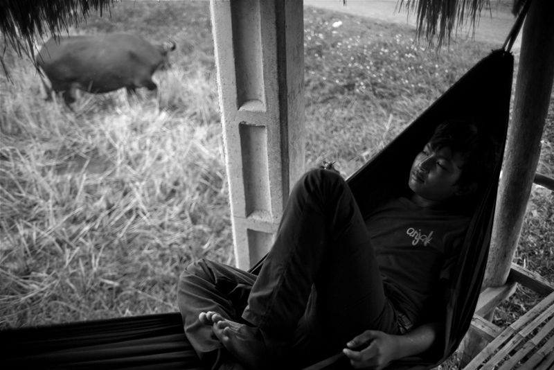 a quiet moment in while shooting with the kids from anjali house in siem reap, cambodia.