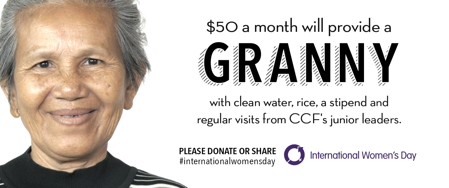 the design that went with the Facebook post of the Granny Sponsorship video