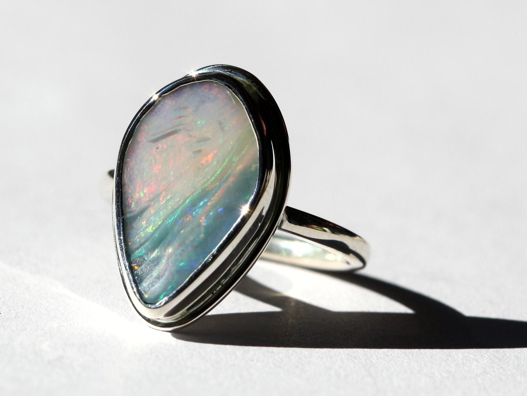 Teardrop Wave Opal Silver Ring1.jpg