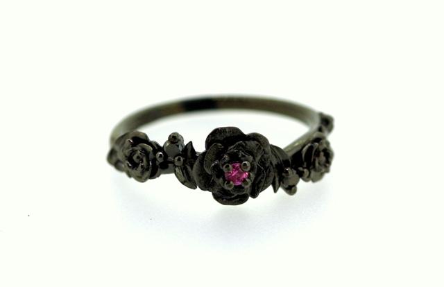 Rose and Thorns Pink Sapphire and Black Diamond 1.jpg