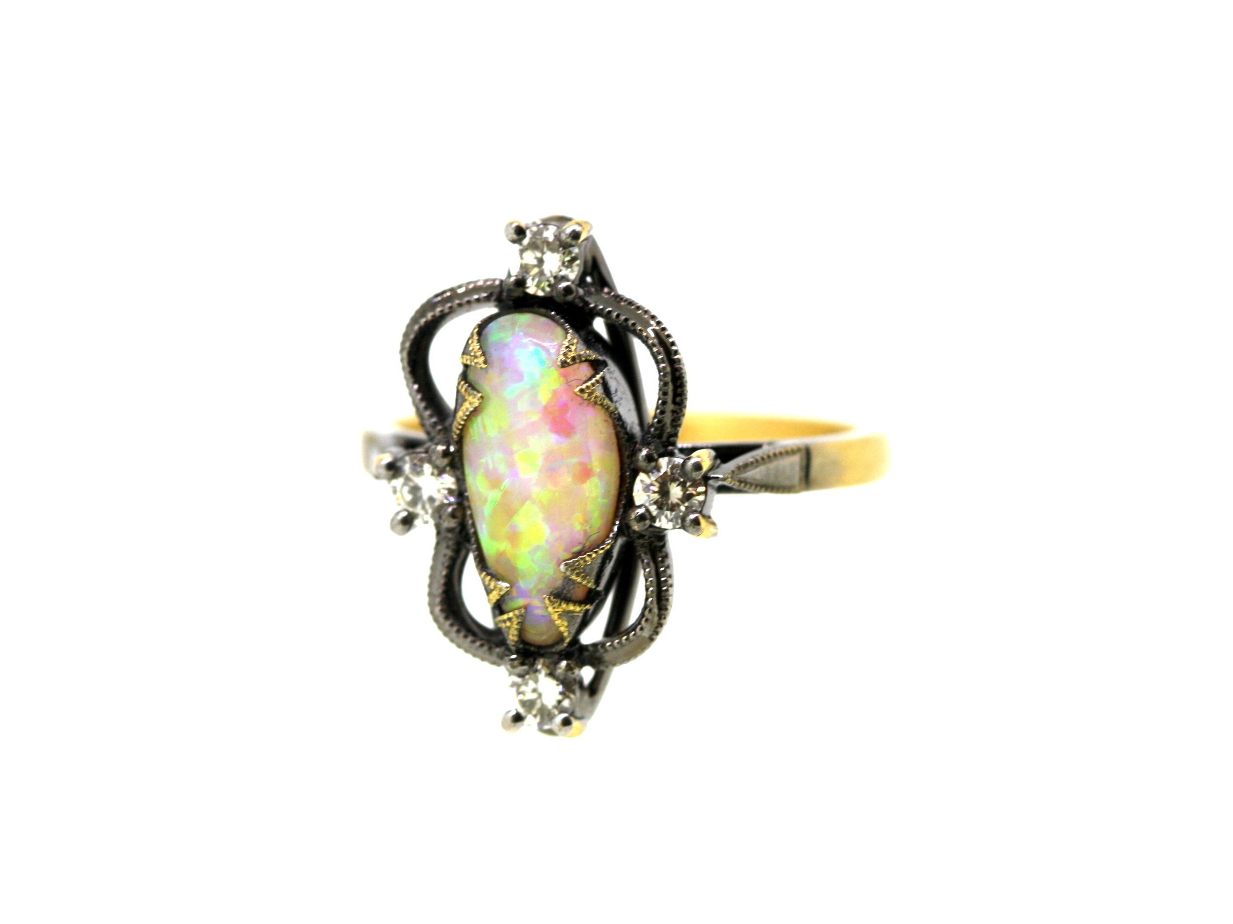 QLD Boulder Opal Diamond Mystical 18ct Yellow Gold  (11).jpg