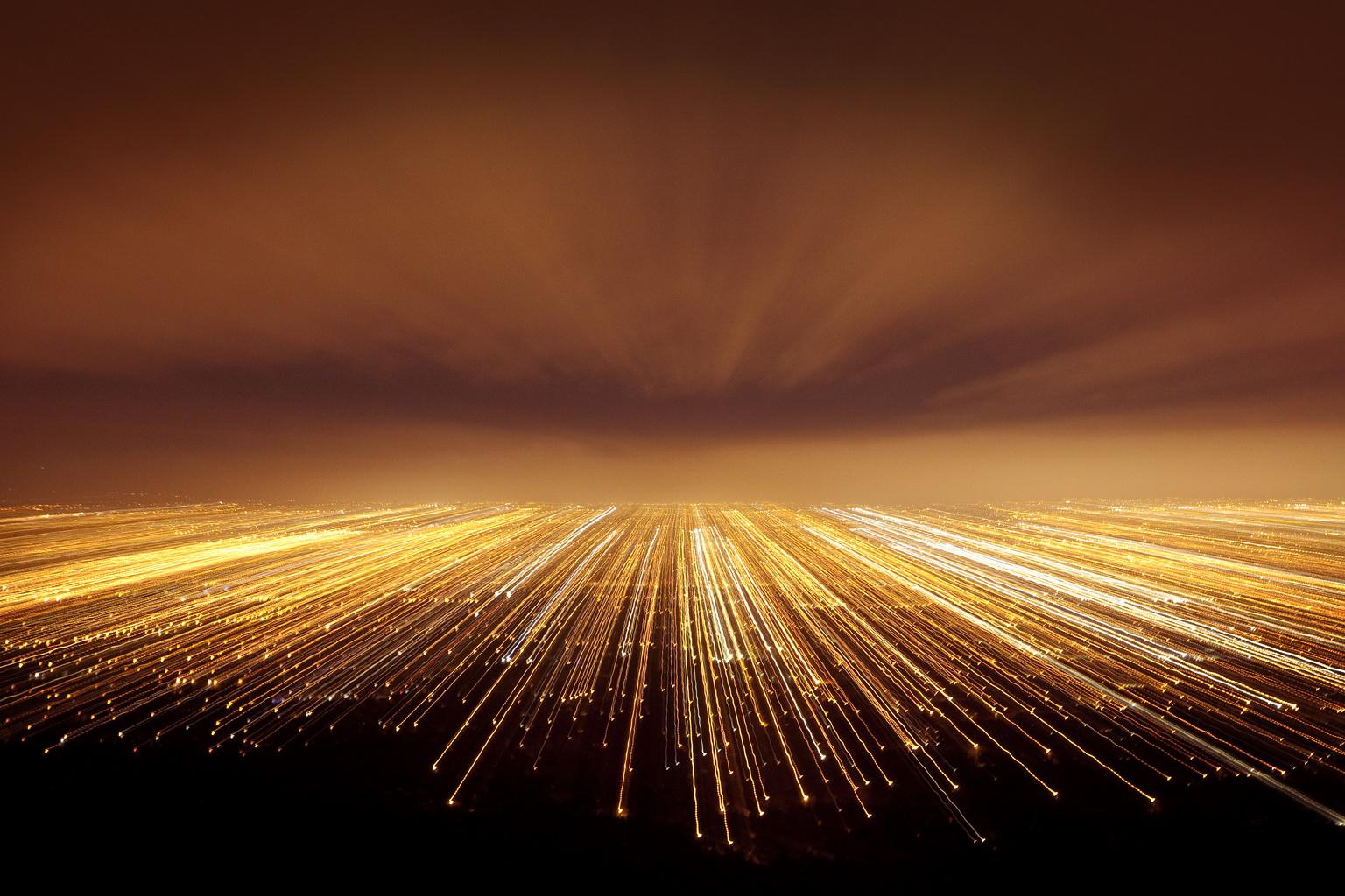 Abstract photograph of Dublin at night