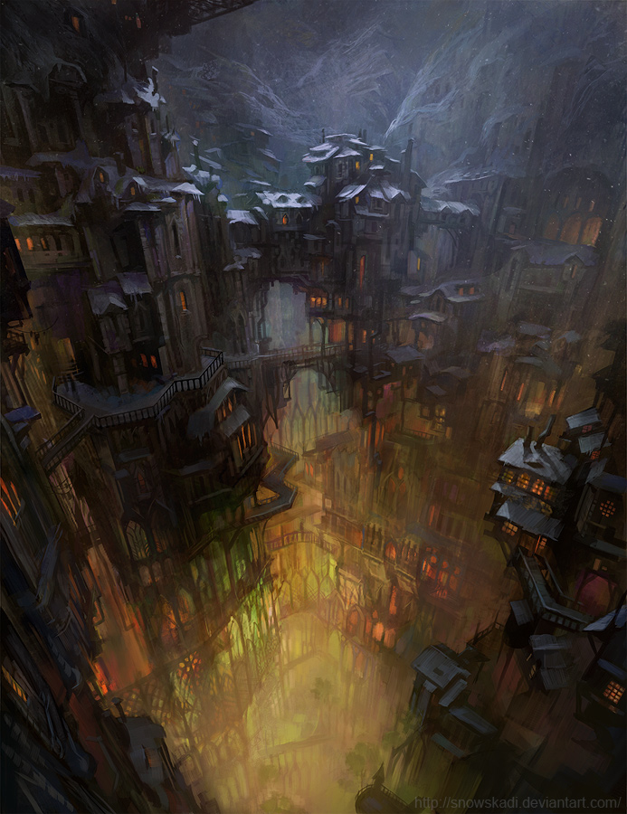 City in a Cave  by SnowSkadi