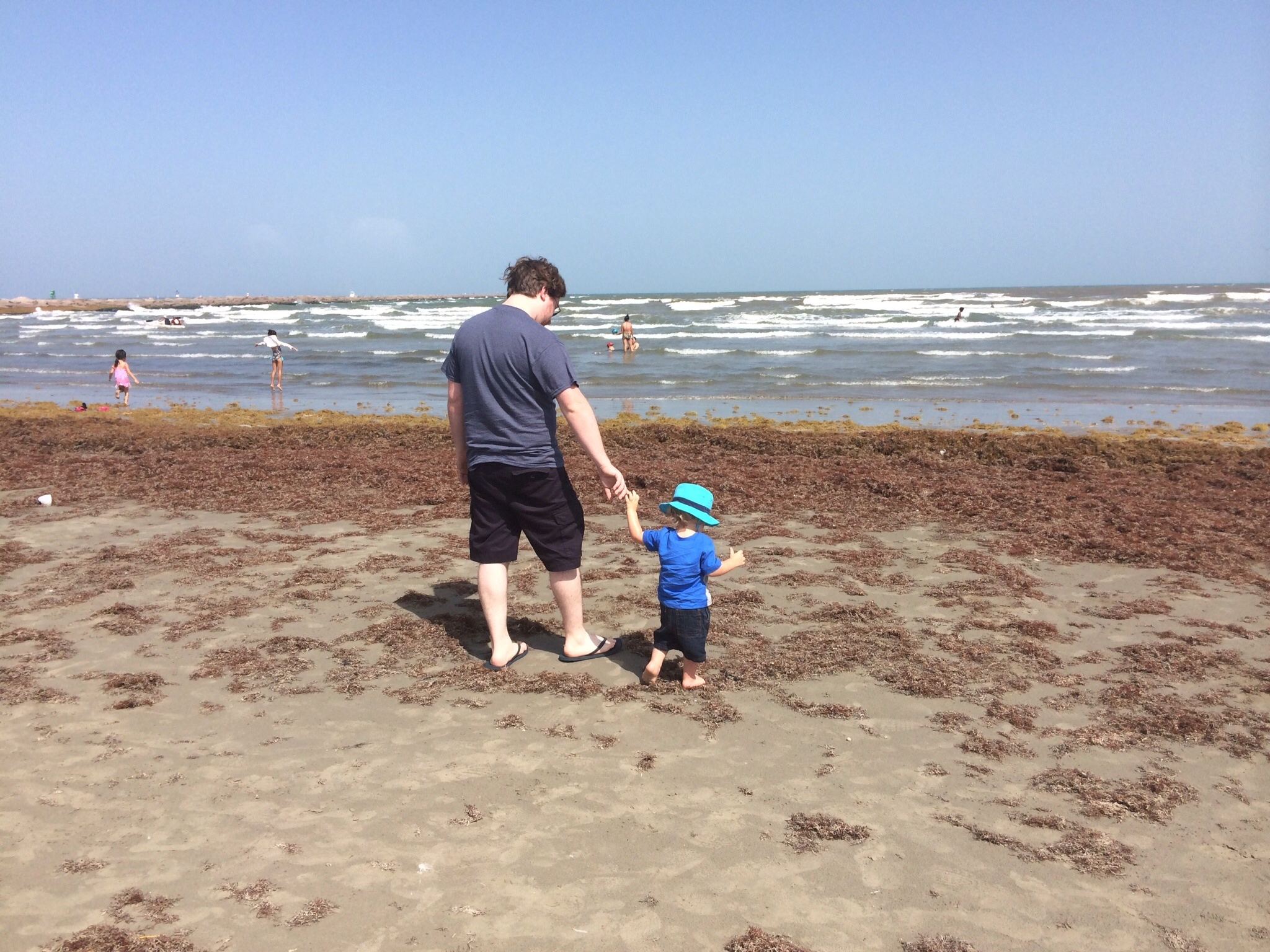 My son and I headed toward the ocean the first full day.