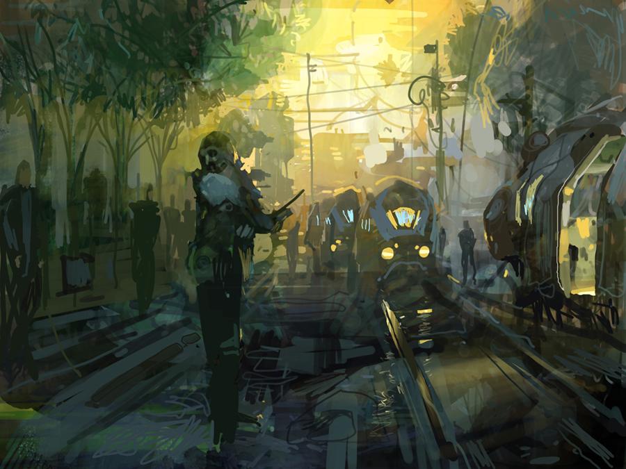 Train Tracks  by Theo Prins