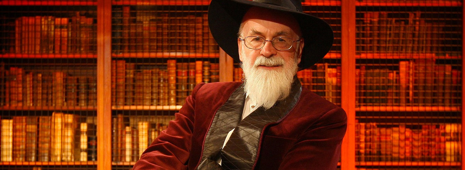 Terry Pratchett giving theRichard Dimbleby Lecture.