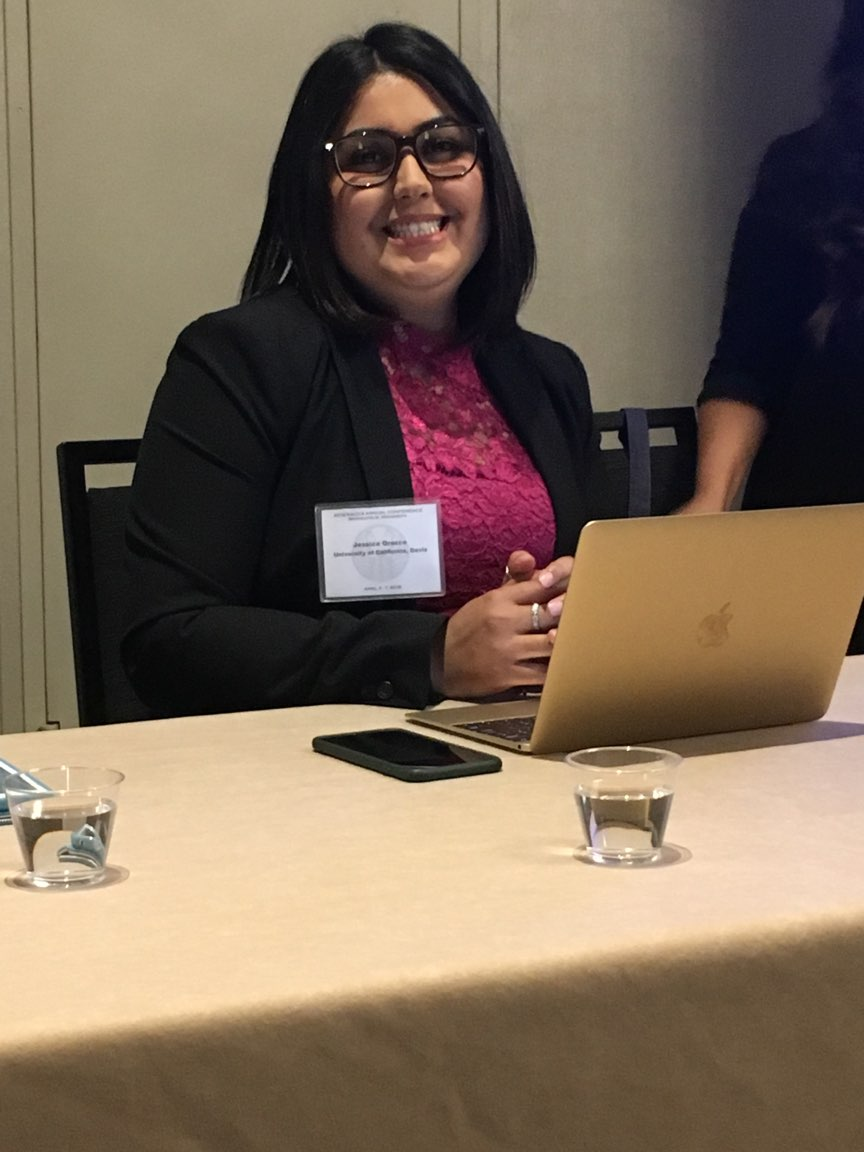 Jessica Orozco presenting NACCS on Redlining's Legacy: An Exploratory Analysis on the Effects of Sanctioned Residential Segregation on Educational Outcomes in Los Angeles.