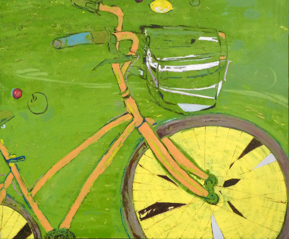 Not so still life with bicycle  (sold)