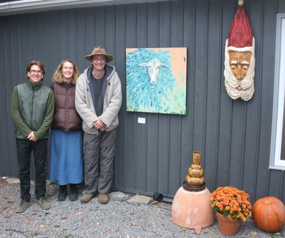 It was a great weekend - thanks Richard Skrobecki, potter & host (left), and Dave Card, sculptor & co-guest with me.