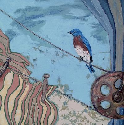 Lucky day blue bird ($350)