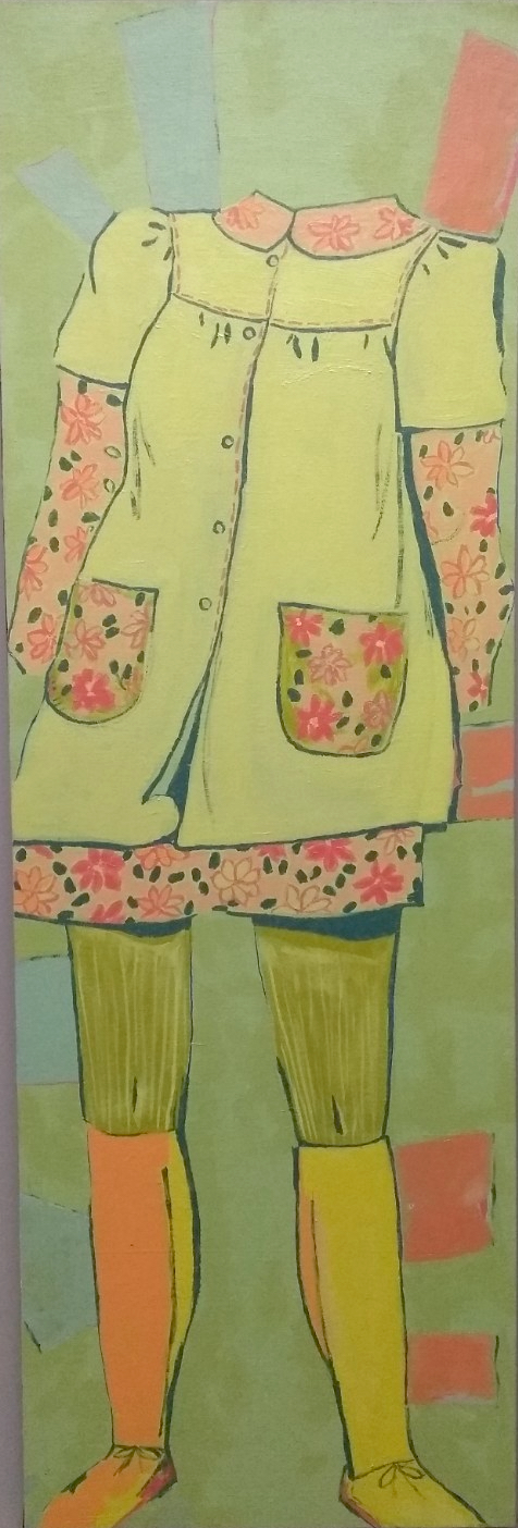 Smock with flowers & boots
