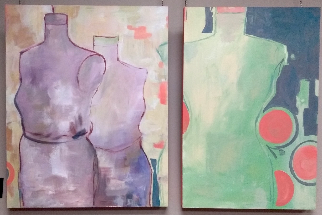 Go-go dancers in the workshop (diptych)