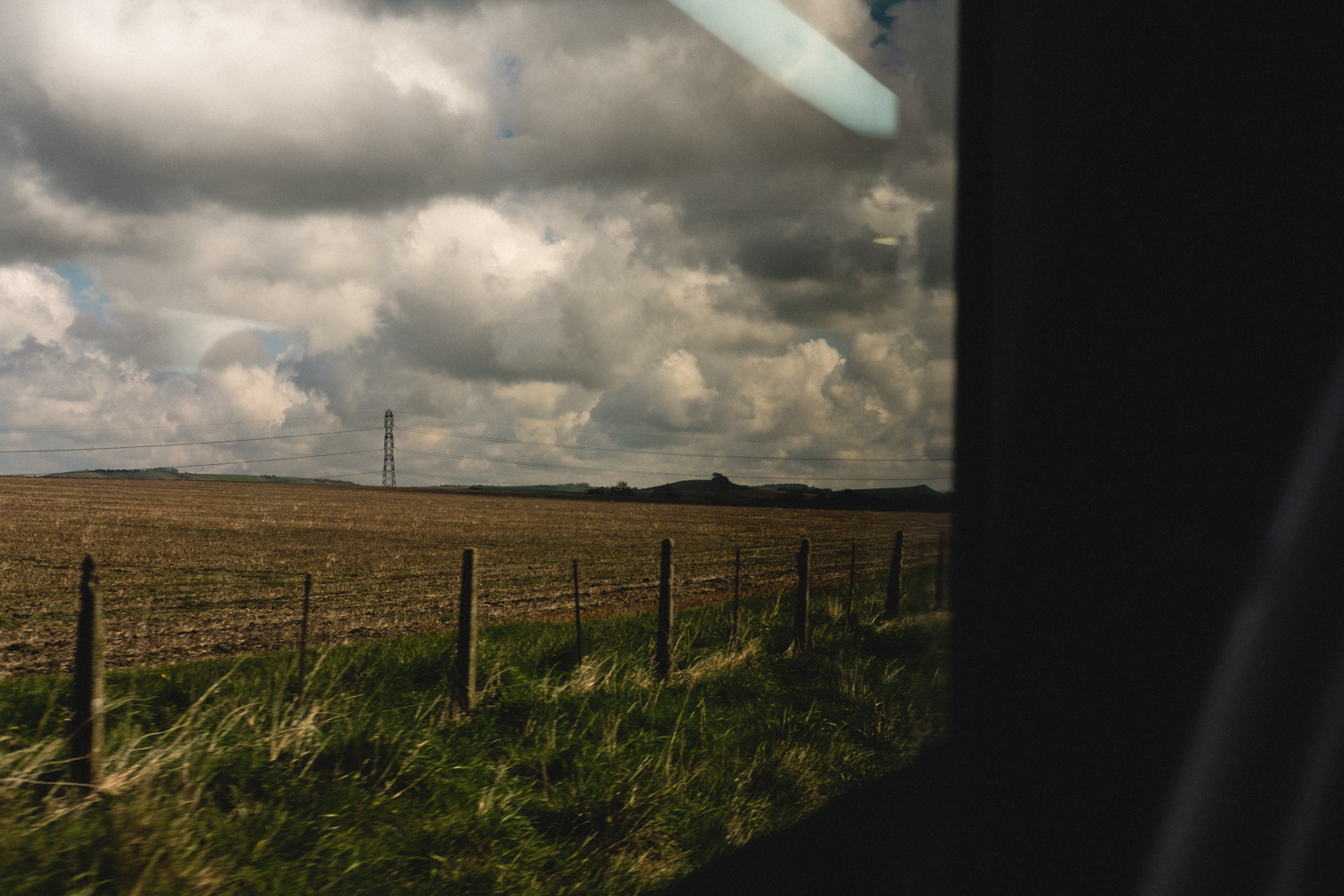 Devon from a train