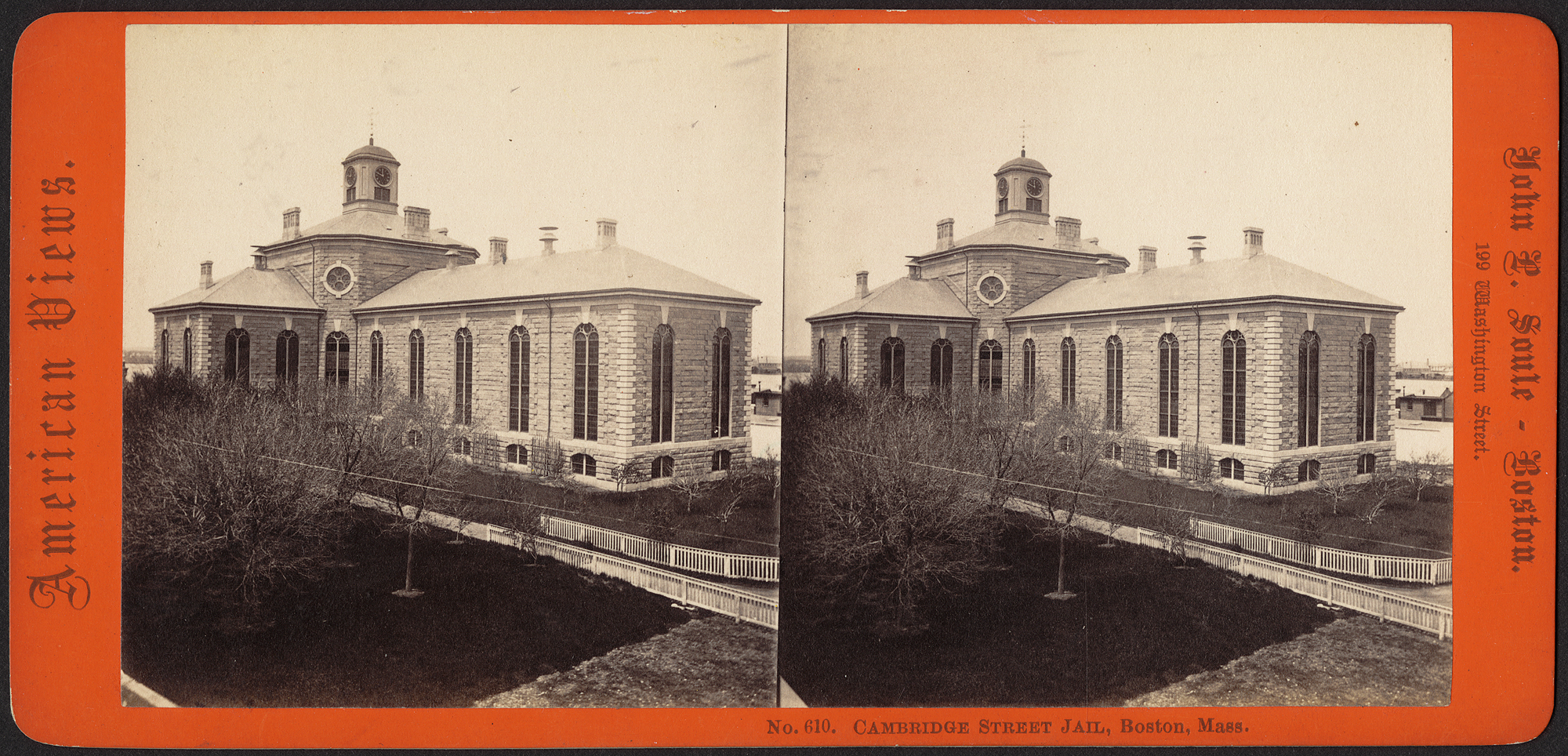 Charles St Jail, 1850s. (source: Boston Public Library)