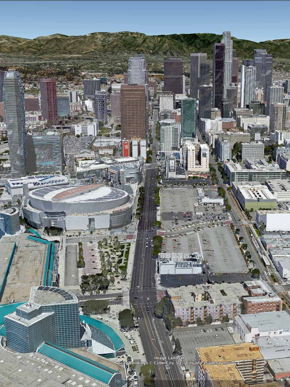 Fig. 6.2: A  ctual development and Staples Center