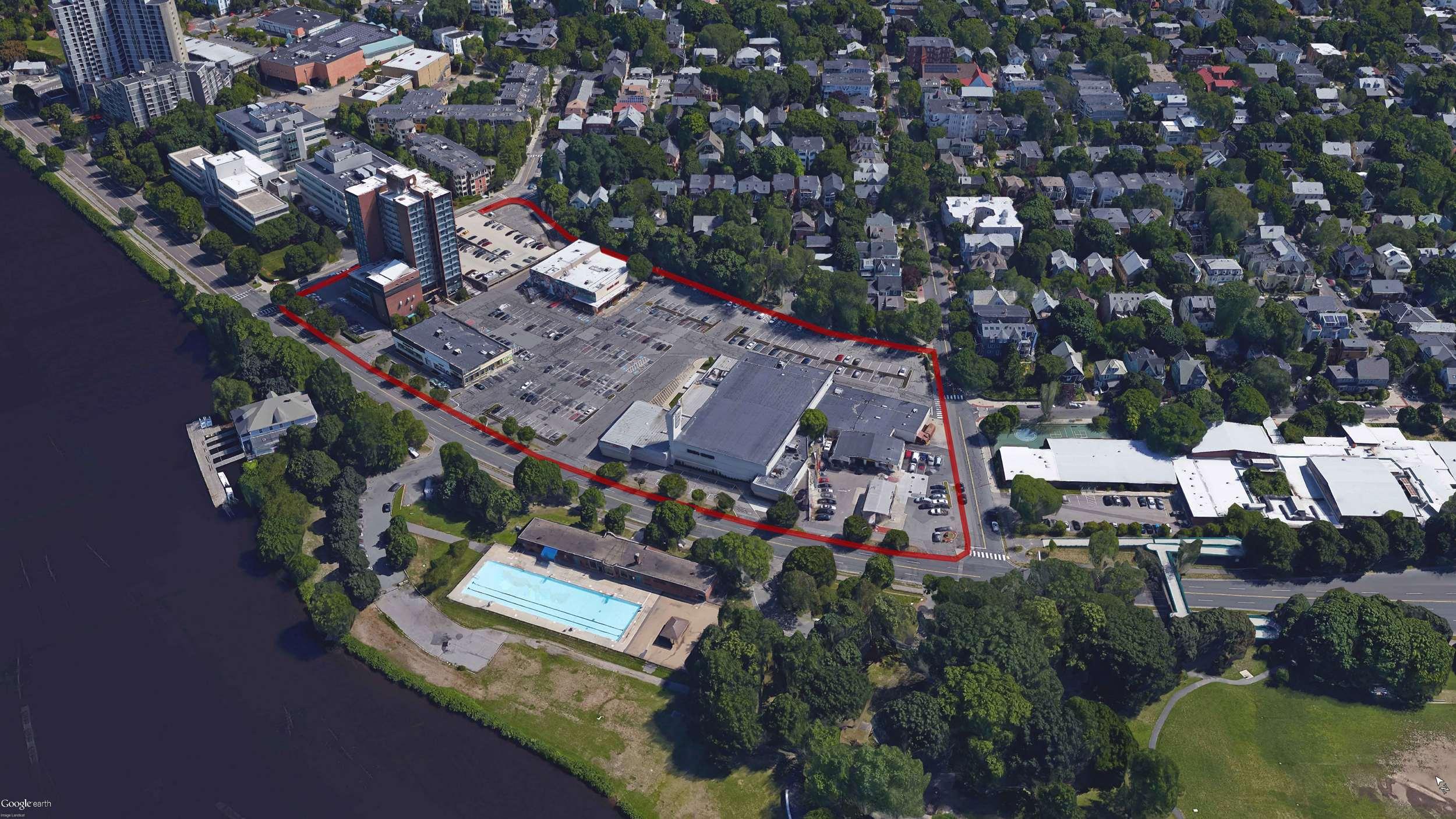 Memorial Plaza in Cambridge, MA - Google Earth image