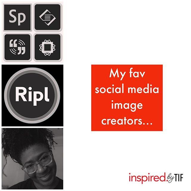 My fav social media image creators.... 1. Adobe spark 2. Ripl 3. Me 😝  Which do you prefer?  #graphicdesigner #designhumor  #graphicdesign #brandstrategy #design  #solopreneur #creativebiz #digitalmarketinglife #socialmedia