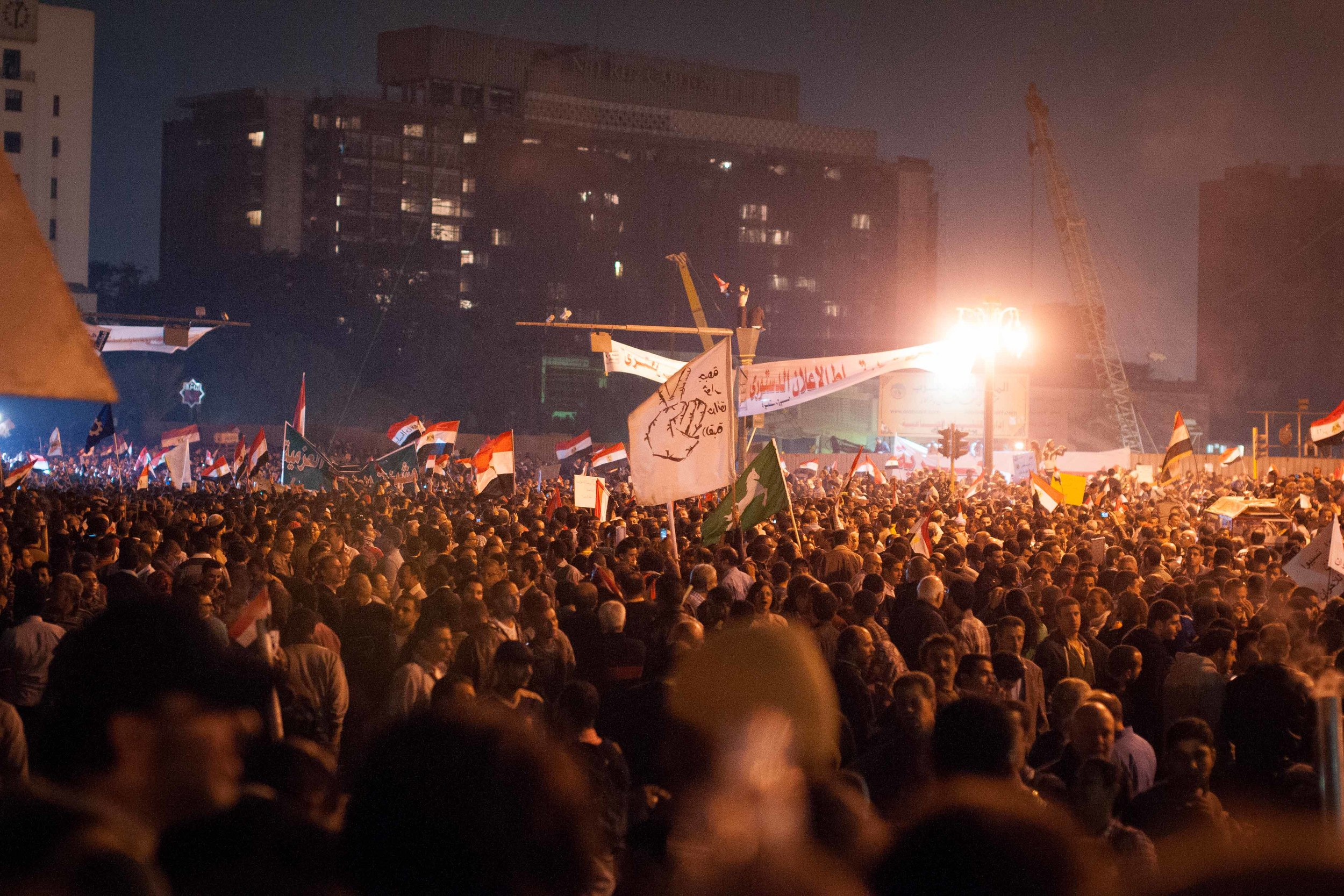 This was around 6 in the evening, before most of the marches even arrived in Tahrir Square.