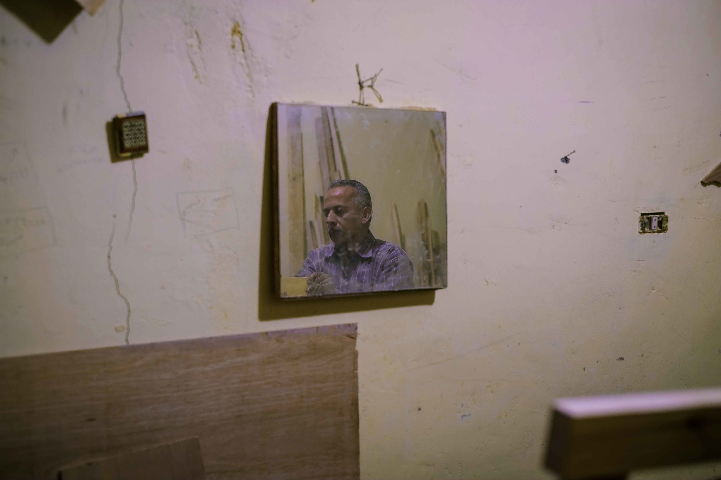 The wood-cutting room. Islamic Cairo.