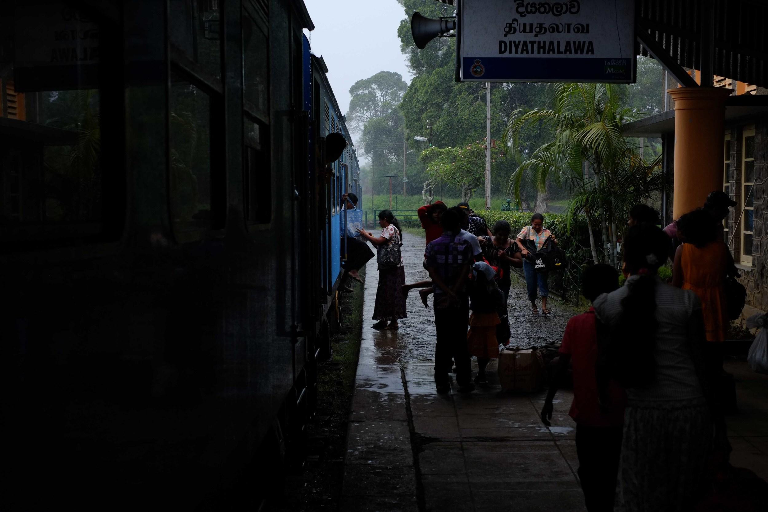 Trains plus rain? Love it!