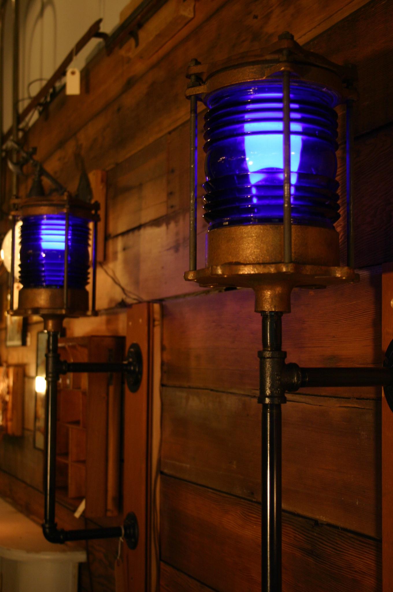 Cobalt Nautical Lanterns
