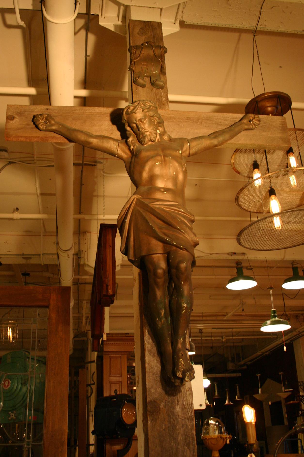 Antique Altar Crucifix